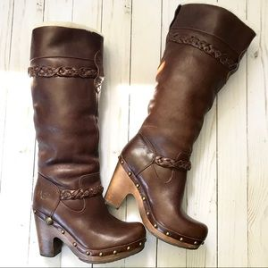 UGG Savanna Brown Leather Boots
